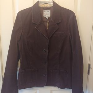Chocolate brown blazer